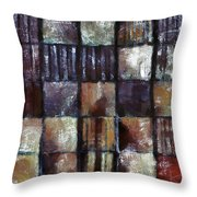 Squared Up 1 Throw Pillow by Angelina Vick