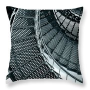 St Augustine Lighthouse Staircase Throw Pillow by Christine Till