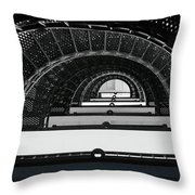 St Augustine Lighthouse Stairs Throw Pillow by Christine Till