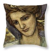 St Catherine Throw Pillow by Thomas Matthews Rooke