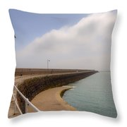 St Catherine's Breakwater - Jersey Throw Pillow by Joana Kruse