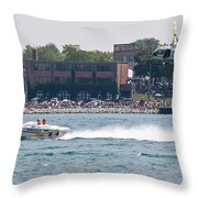 St. Clair Michigan Usa Power Boat Races-4 Throw Pillow by Paul Cannon