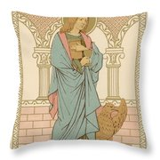 St John The Evangelist Throw Pillow by English School