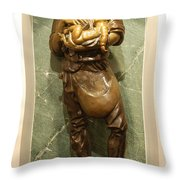 St Joseph the Worker Throw Pillow by Philip Ralley