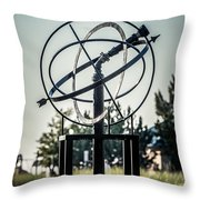 St. Joseph Whirlpool Compass Fountain Water Cannon Throw Pillow by Paul Velgos