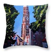 St Martin Old Town Seen From Former Munich Gate Throw Pillow by M Bleichner