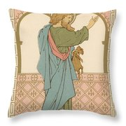 St Matthew Throw Pillow by English School