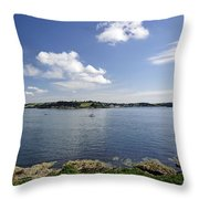 St Mawes From Pendennis Point Throw Pillow by Rod Johnson
