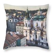St Nicholas Prague Throw Pillow by Joan Carroll