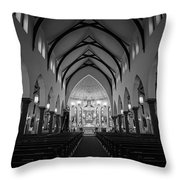 St Patricks Cathedral Fort Worth Throw Pillow by Joan Carroll