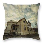 St. Pauls Anglican Church Throw Pillow by Priska Wettstein