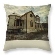 St. Pauls Anglican Church Throw Pillow by Priska Wettstein