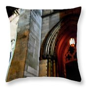 St. Paul's Presbyterian Church Hamilton Ontario  Canada Front View Throw Pillow by Danielle  Parent
