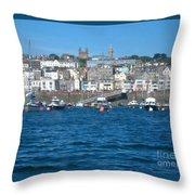 St Peters Port Guernsey  Throw Pillow by Phyllis Kaltenbach