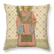 St Stephen Throw Pillow by English School