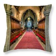 St Twrog Church Throw Pillow by Adrian Evans