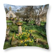 St Tysilio Graveyard Throw Pillow by Adrian Evans