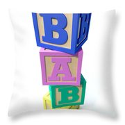 Stacked Baby Blocks Throw Pillow by Allan Swart
