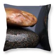 Stacked Stones 3 Throw Pillow by Steve Gadomski