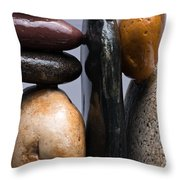 Stacked Stones 4 Throw Pillow by Steve Gadomski