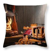 Stagecoach Dream Throw Pillow by Olivier Le Queinec