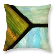 Stained Glass 6 Throw Pillow by Tom Druin