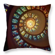 Stained Glass Throw Pillow by Gianfranco Weiss