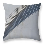 Stairs And Shadows 3 Throw Pillow by Anita Burgermeister