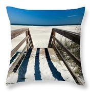 Stairway To Happiness And Possibilities Throw Pillow by Michelle Wiarda