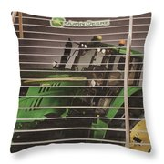 Stairway To John Deere Heaven Throw Pillow by Janice Rae Pariza