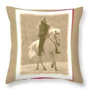 Stallion Strides Throw Pillow by Patricia Keller