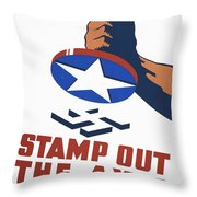 Stamp Out The Axis Throw Pillow by Unknown