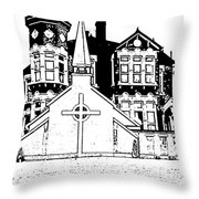 Stamps  Throw Pillow by Vicky  Hutton
