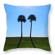 Stand By Me - Palm Tree Art By Sharon Cummings Throw Pillow by Sharon Cummings