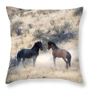 Stand-Off Throw Pillow by Mike  Dawson