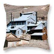 Standard Mill At Bodie Panorama Throw Pillow by Barbara Snyder