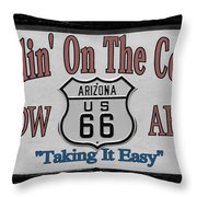 Standin' On A Corner In Winslow Arizona Throw Pillow by Christine Till