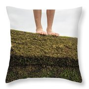 Standing On A Jetty Throw Pillow by Edward Fielding