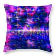 Star Gardens Throw Pillow by Carl Hunter
