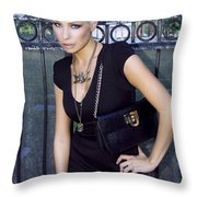 Star Gate Seduction Palm Springs Throw Pillow by William Dey