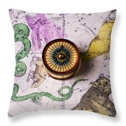 Star map Throw Pillow by Garry Gay