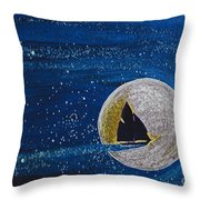 Star Sailing By Jrr Throw Pillow by First Star Art