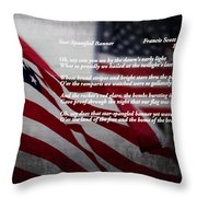 Star Spangled Banner  Throw Pillow by Ella Kaye Dickey