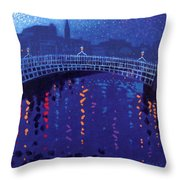 Starry Night In Dublin Throw Pillow by John  Nolan