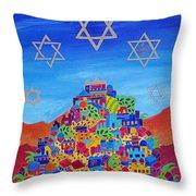 Stars Above Jerusalem Throw Pillow by Dawnstarstudios