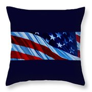STARS and BARS Throw Pillow by Julie Brugh Riffey