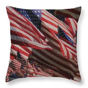 Stars And Stripes - Remembering Throw Pillow by Jack Zulli