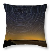 Startrails 3 Throw Pillow by Benjamin Reed