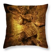 Statue Of Angel Throw Pillow by Amanda And Christopher Elwell