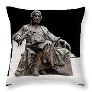 Statue Of Nizami Ganjavi  Throw Pillow by Fabrizio Troiani